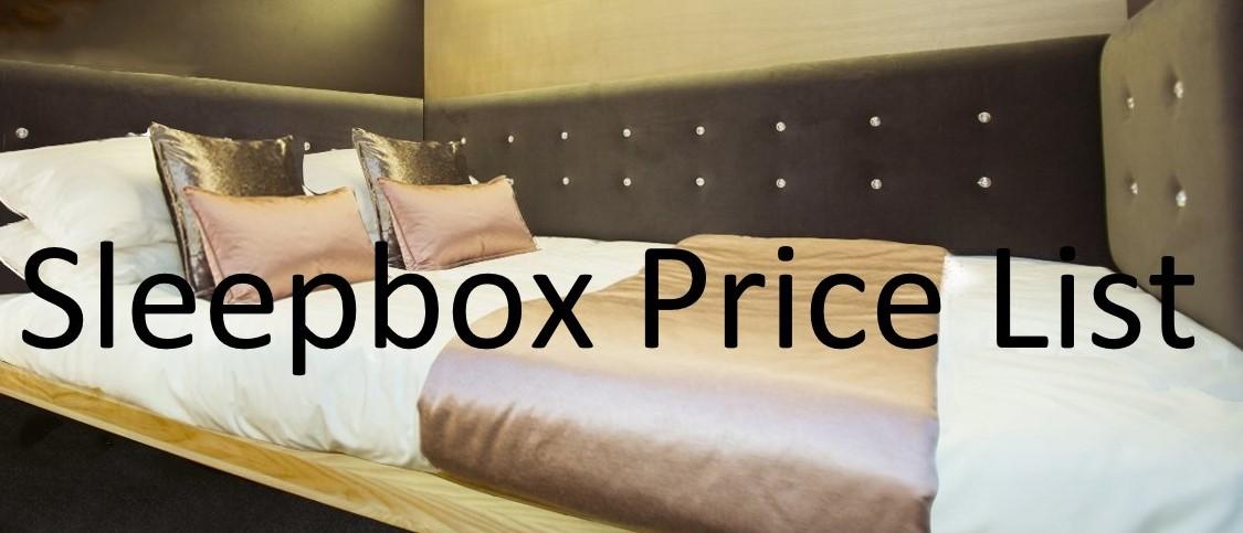 Sleepbox Price list